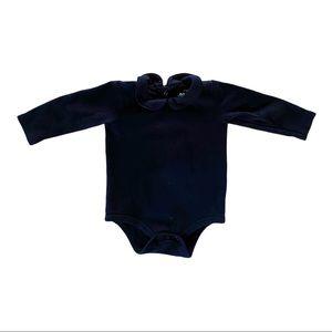 Primary | Navy Peter Pan Bodysuit (6-9 mos)